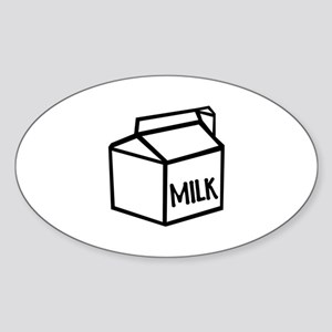 Milk Sticker (Oval)